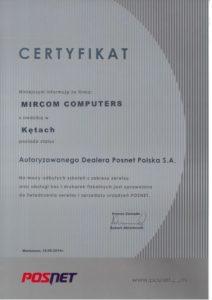 Certyfikat Posnet - Mircom Computers
