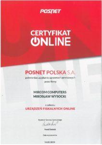 Certyfikat Posnet - Mirosław Wysocki