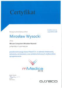 Certyfikat mMedica 2018 - Mirosław Wysocki